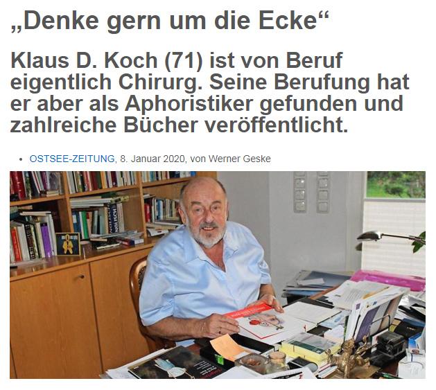 Artikel in der OSTSEE-ZEITUNG